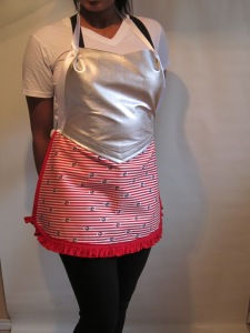 New apron look- Femme Food Gladiator!