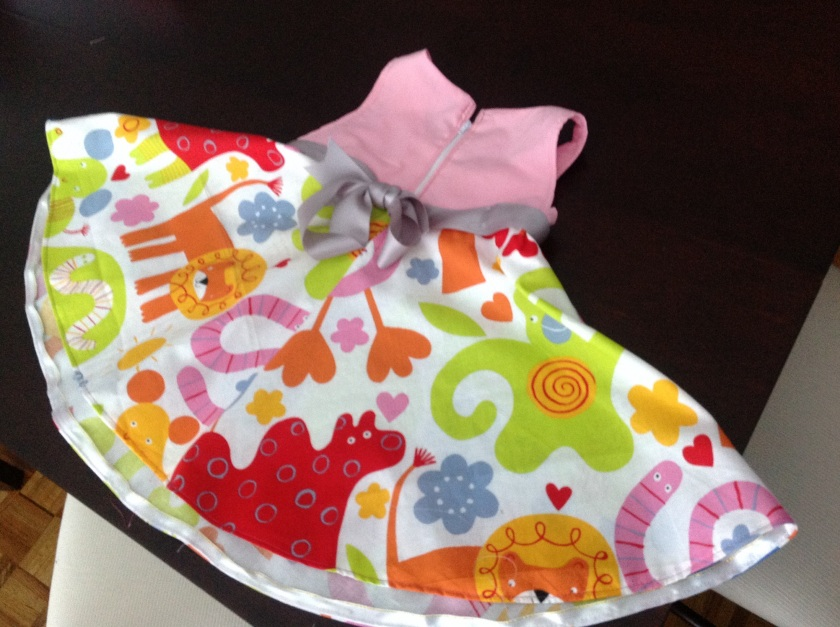 Sun dress for the animal lover- (size is for age 2)