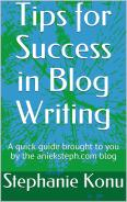 Free eBook for tips on how to write your own blog written by Stephanie Konu